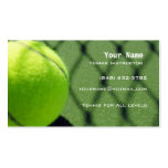 Tennis Instructor Business Card Templates