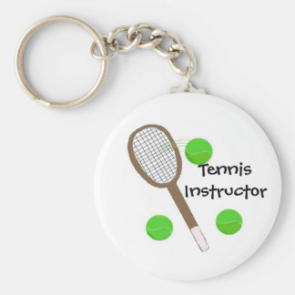 Tennis Instructor Keychains