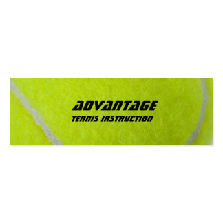 Tennis Instructor_yellow fuzz Mini Business Card