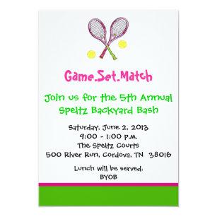 Tennis Invitations