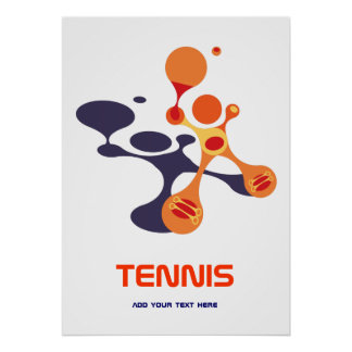 tennis is a cool game poster
