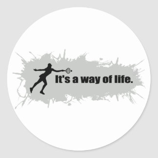 Tennis is a Way of Life (Female) Classic Round Sticker