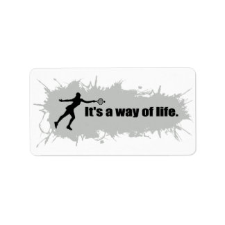 Tennis is a Way of Life (Female) Label