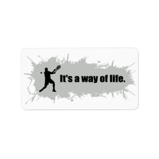 Tennis is a Way of Life (Male) Label