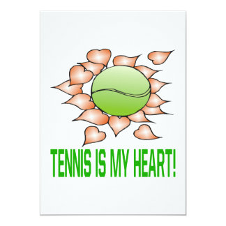 Tennis Is My Heart Card