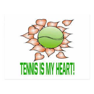 Tennis Is My Heart Postcard