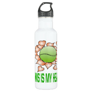 Tennis Is My Heart Stainless Steel Water Bottle