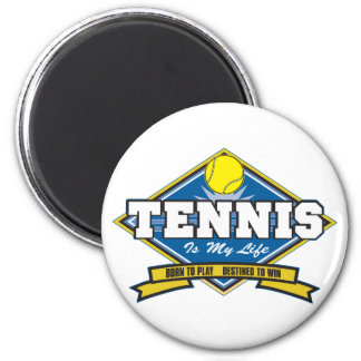 Tennis is My Life 2 Inch Round Magnet