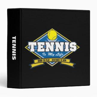 Tennis is My Life 3 Ring Binder