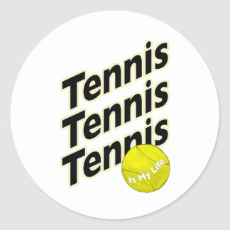 Tennis is My Life Classic Round Sticker