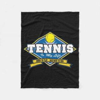 Tennis is My Life Fleece Blanket