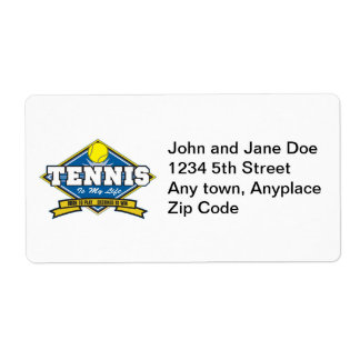 Tennis is My Life Label