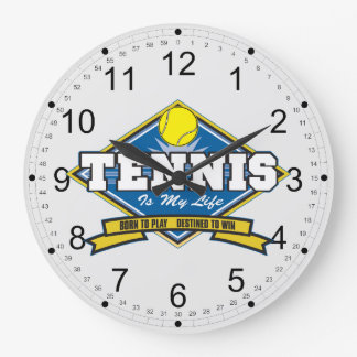 Tennis is My Life Large Clock