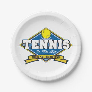 Tennis is My Life Paper Plate