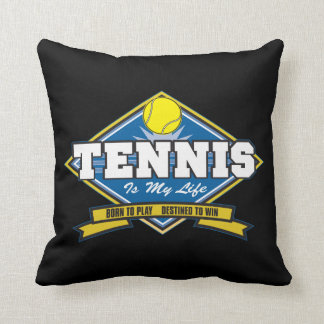 Tennis is My Life Throw Pillow