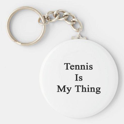 Tennis Is My Thing Basic Round Button Keychain