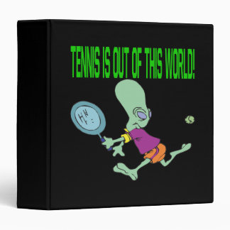 Tennis Is Out Of This World 3 Ring Binder