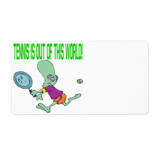 Tennis Is Out Of This World Shipping Label