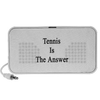 Tennis Is The Answer iPod Speakers