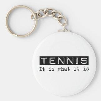 Tennis It Is Keychain