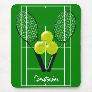 Tennis Just Add Name Mouse Pad