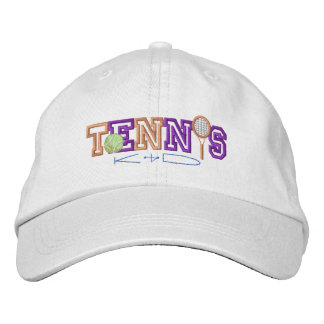 Tennis Kid Embroidered Baseball Hat