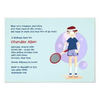 Tennis Kid Invitation