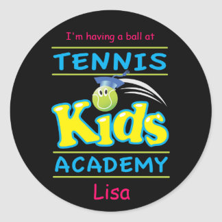 Tennis Kids Academy_I'm having a ball_personalized Round Sticker
