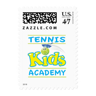 Tennis Kids Academy stacked logo postage