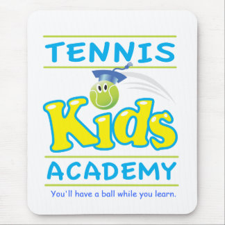 Tennis Kids Academy_w/ tag line on white Mouse Pad
