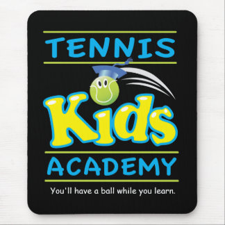 Tennis Kids Academy_You'll have a ball!_black Mouse Pad