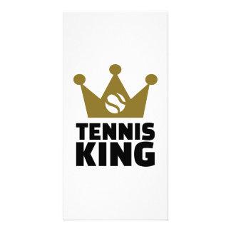 Tennis king crown photo card template