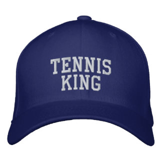 Tennis King Embroidered Baseball Hat