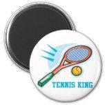 Tennis King Fridge Magnets