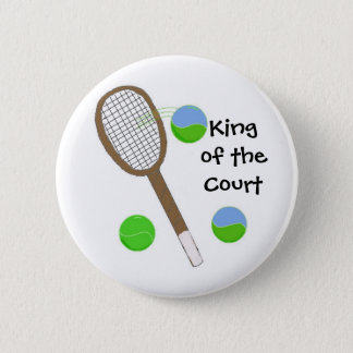Tennis - King of the Court Button