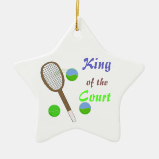 Tennis - King of the Court Ceramic Ornament