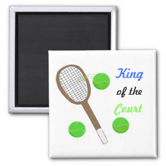 Tennis - King of the Court Refrigerator Magnet