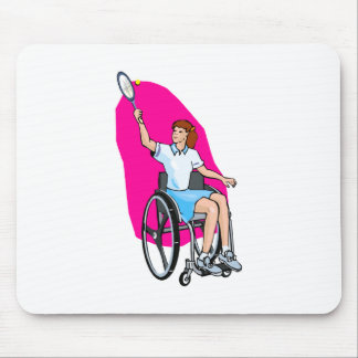 Tennis Lady Mouse Pad