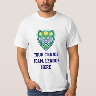Tennis League T Shirts and Sweaters. Customizable