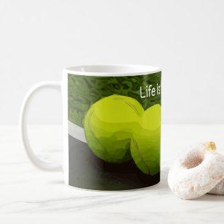 Tennis Life is better on the court tennis ball Coffee Mug