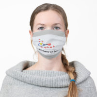 Tennis life is better on the court with love adult cloth face mask