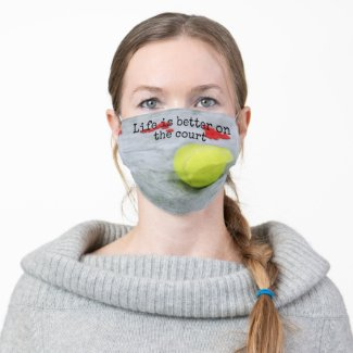 Tennis life is better on the court with love cloth face mask