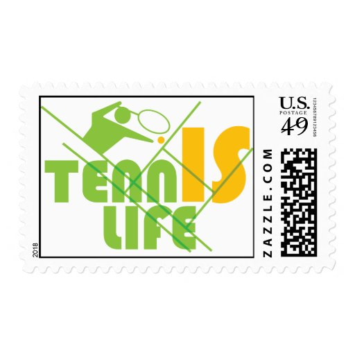 TENNIS_LIFE POSTAGE STAMPS