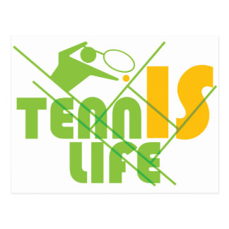 TENNIS_LIFE POSTCARD