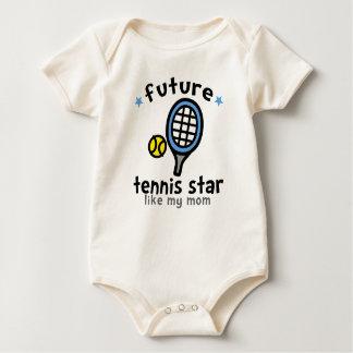 Tennis Like Mom Baby Bodysuits