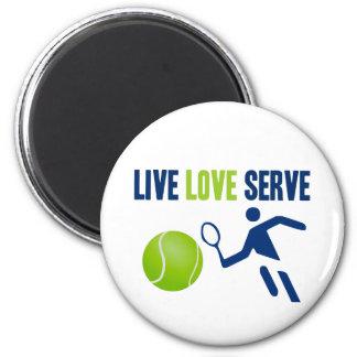 Tennis: Live. Love. Serve 2 Inch Round Magnet