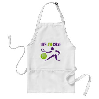 Tennis: Live. Love. Serve. Adult Apron