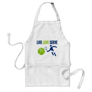 Tennis: Live. Love. Serve Adult Apron