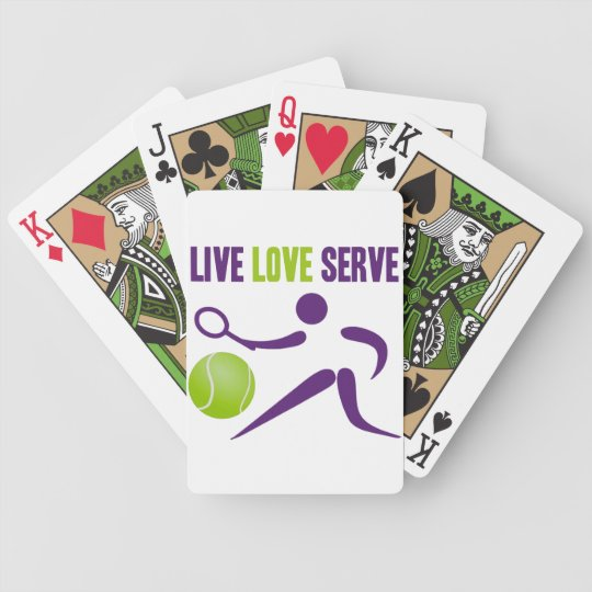 Tennis: Live. Love. Serve. Bicycle Playing Cards