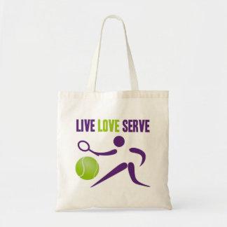 Tennis: Live. Love. Serve. Budget Tote Bag
